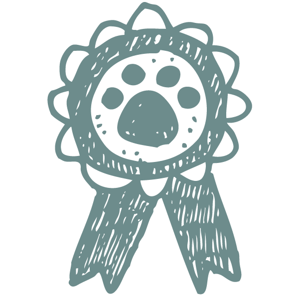 award icon paw-destrian