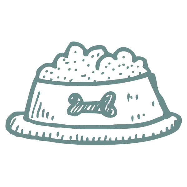 paw-destrian food bowl icon